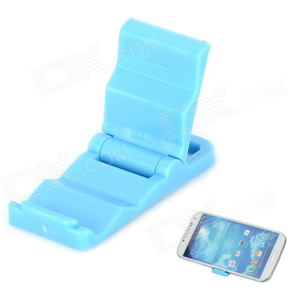 Universal Mini Folding Stand Holder Support for Cell Phone - Blue universal swivel tripod stand holder for cell phone camera black