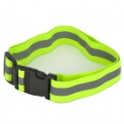 YFY-48 Adjustable Reflective Safety Buckle Waist Belt Band - Fluorescent Green + Gray
