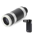 LrG-w 8X Magnification Telescope w/ Back Case for Samsung Galaxy S4 / i9500 - Silver + Black