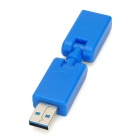 180 Degree Bend USB 3.0 Male to Female Adapter - Blue