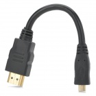 HDMI V1.4 Male to Micro HDMI Male Audio / Video Connection Cable - Black (16.5cm)