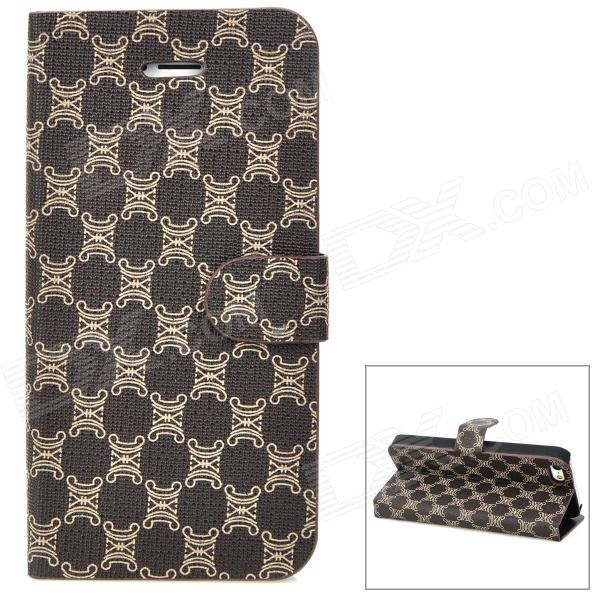 Protective Flip-Open PU Leather Case for Iphone 5 - Taupe стоимость
