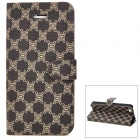 Protective Flip-Open PU Leather Case for Iphone 5 - Taupe