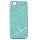 Electroplating Shimmering Powder Protective Plastic Case for Iphone 5 - Blue + Silver