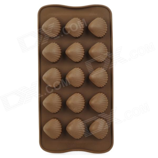 Shell Style DIY Kitchen Food Cake / Cholocate / Ice 15-Cup Mold - Coffee kitchen plastic pineapple style bread mold coffee