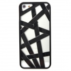 Bird Nest Style Protective Plastic Case for Iphone 5 - Black