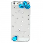 Crystal + Plastic Protective Back Case for Iphone 5 - Transparent + Blue