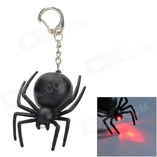 Mini Black Spider Shaped Red Light Keychain (3 x AG10) Fort Collins Buying things