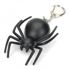 Mini Black Spider Shaped Red Light Keychain (3 x AG10)