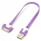 USB Male to 30-Pin Male Charging Data Cable for iPhone 4 / 4S - Purple + White