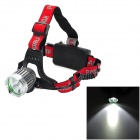 Cree XM-L T6 + XP-E R5 3-Mode 650lm Cool White + Warm White LED Head Lamp - Silver (1 / 2 x 18650)