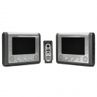 "Rainproof  7"" Color TFT LCD Wired Video Door Phone w/ IR Night Vision (1 to 2)"