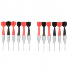 Cool Dart Style Kitchen Food Fruit Fork - Red + Black + Grey (12 PCS)