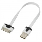 USB Male to 30-Pin Male Data Charging Cable for iPhone 4 / 4S - White + Black