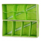 Socks Under Wear Folding Non-woven Fabrics Storage Box Set - Green (2 PCS)
