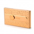 Aluminum Alloy Business Name Card Holder Case - Golden