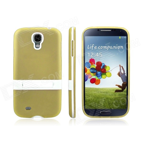 ENKAY Protective Soft TPU + Plastic Case Cover for Samsung Galaxy S4 / i9500 - Yellow