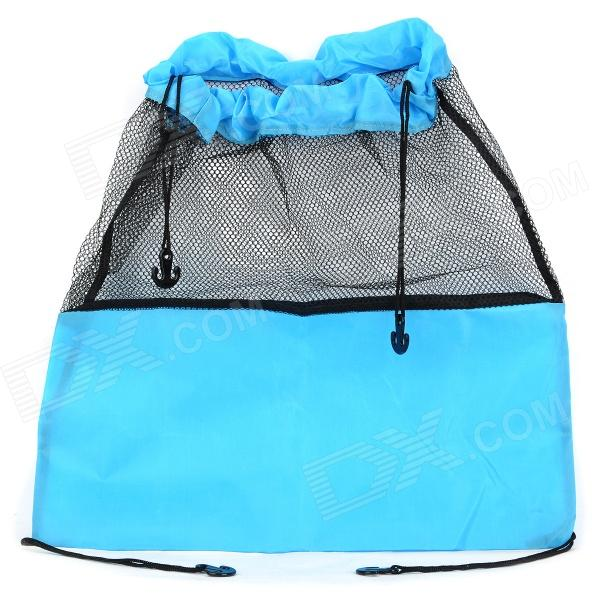 Water Resistant Folding Hanging Pouch for Baby's Stroller - Blue + Black (45 x 43cm)