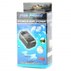 Yuge F2 Super Mute Fish Tank Aquarium Air Pump - Grey + Black (EU Plug)