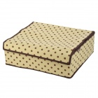 C1-11 Polka Dots Pattern Folding 16-Component Non-woven Fabrics Storage Box - Brown + Beige