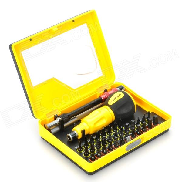 RDEER 9173 34-in-1 Multi-Purpose Precision Screwdriver Set - Yellow + Black