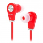 OV-K282MP Flat Cable In-Ear Earphones w/ Earbuds - Red + Silver (3.5mm Plug / 124cm-Cable)