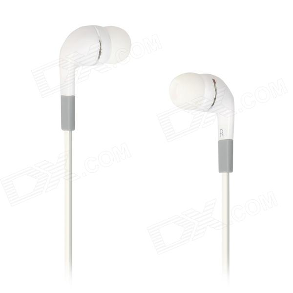 AE41 In-ear Earphone Cable w/ MIC + Remote - White  (3.5mm-Plug / 128cm-Cable)