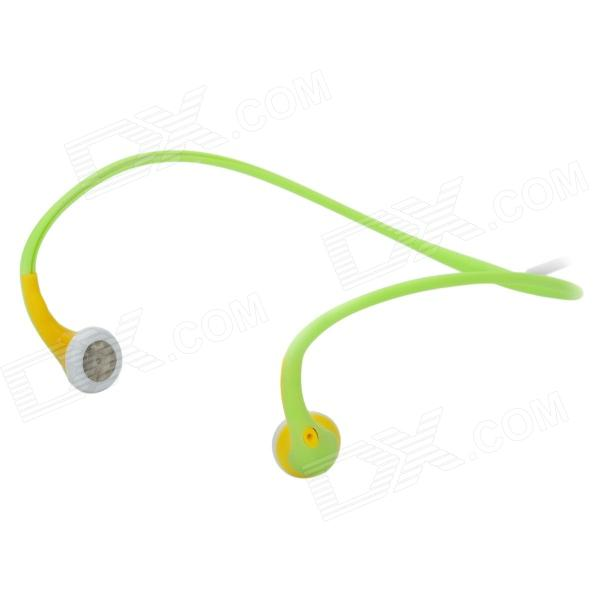Universal Auriculares Ear-Hook - Fluorescente Verde + Amarillo + blanco (3.5mm Plug / 102cm-Cable)