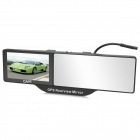 "5"" TFT Car Rearview GPS w/ Bluetooth / Built-in 4GB TF Memory / FM Transmitter - Black"