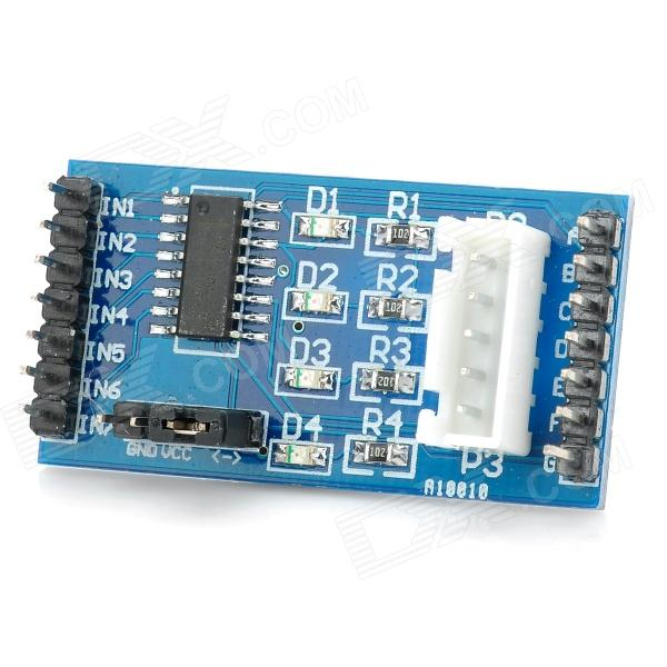ULN2003 4 Phase 5 Wire Driver Board for 28BYJ-48 Step Motor - Black + Blue (5~12V)