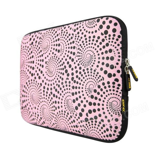 ENKAY Heat Transfer Printing Protective Sleeve Bag for 9 / 9.7 inch Laptop Notebook - Pink + Black