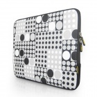 "ENKAY Heat Transfer Printing Protective Sleeve Bag for 9.7"" Laptop Notebook - Black + White + Grey"
