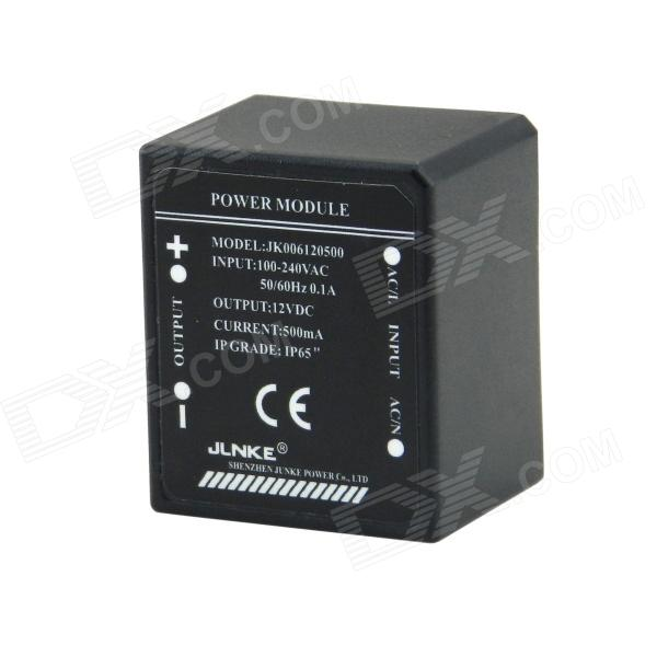 4-Pin Waterproof 0.5A 12V 6W Power Constant Voltage Source Module - Black (AC100~240V)