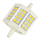 R7S 5W 440lm 3000K 24-5050 SMD LED Warm White Light Lamp - White + Silver + Yellow