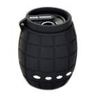 X-183 Novelty Mini Grenade Style Portable TF Card MP3 w/ Speaker - Black (32GB Max.)