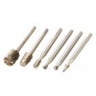 High Speed Steel Milling Cutters - Silver (6PCS / 3mm)