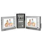 7'' TFT Screen Night Vision Video Door Phone Doorbell w/ Alloy Waterproof Camera - Grey + Silver