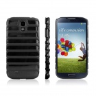 ENKAY Ladder Style Hollow Plastic Case Back Cover for Samsung Galaxy S4 / i9500 - Black