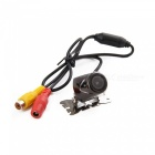 Universal Water Resistant Wide Angle Car Rearview Video Camera - Black (DC 12V / PAL)