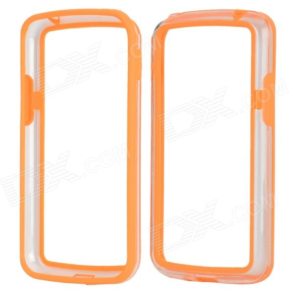 Stylish Protective TPU + PC Bumper Frame for LG Nexus 4 E960 - Orange protective tpu   pc bumper frame for lg