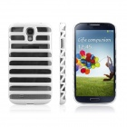 ENKAY Ladder Style Hollow Plastic Case Back Cover for Samsung Galaxy S4 / i9500 - White