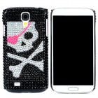 Fashion Skull Pattern Crystal Back Case for Samsung Galaxy S4 i9500 - Pink + Black + Silver