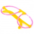 MXZ-004 lindo estilo Glow-in-the-dark DIY del palillo del resplandor Glasses Frame - Amarillo + Rojo