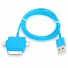 USB to 8-Pin Lightning / 30-Pin / Micro USB Charging Cable for iPhone 5 / 4 / iPad Mini - Blue