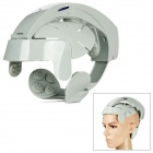 YK-06 Electric Head Brain Relax Massager - Grey White (3 x AAA / US Plug)