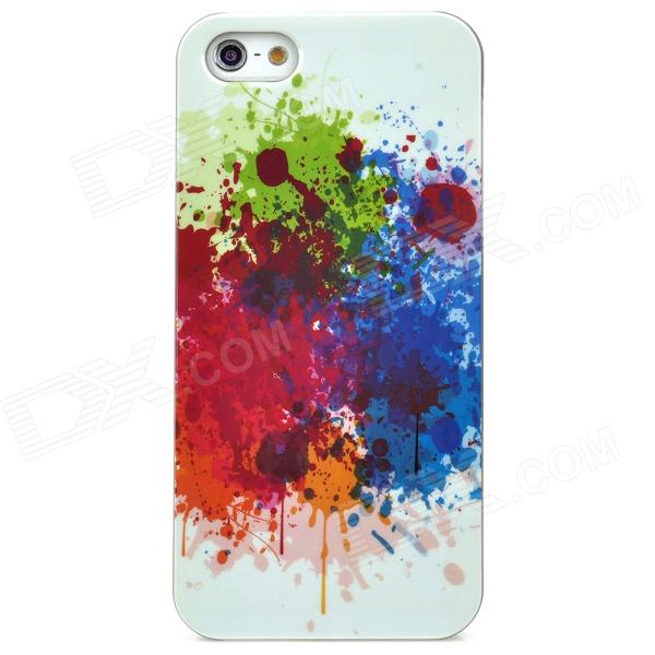 купить Stylish Protective Plastic Back Case for Iphone 5 - Blue + Green + Red + White недорого