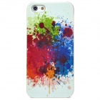 Stylish Protective Plastic Back Case for Iphone 5 - Blue + Green + Red + White