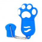 32G Cute Cat Pad Style USB 2.0 Flash Drive + Ultraviolet Detector Pendant - Blue + White