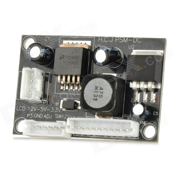 20907 DC to DC Buck Converter 12V to 5V 3.3V LED Step-down Module - Black + White original used power supply board l49m2 aa fsp204 2fs01 5v 3a 12v 6