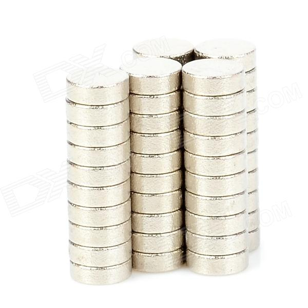 3 x 1mm NdFeB Neodymium Magnet Circular Cylinder DIY Puzzle Set - Silver (50 PCS) cheerlink zm 81 3mm neodymium iron diy educational toys set silver 81 pcs